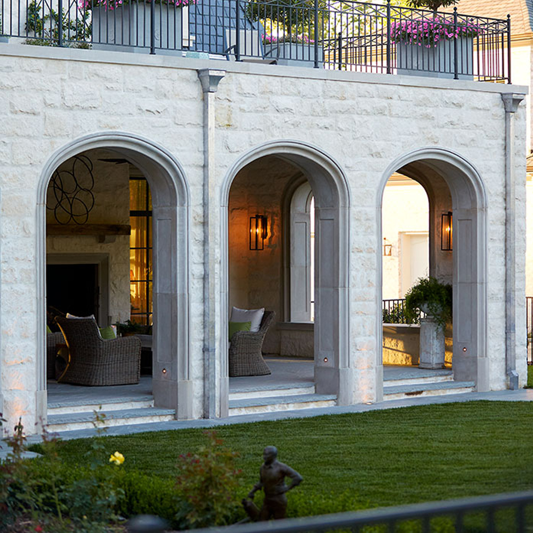Arched Courtyard Columns